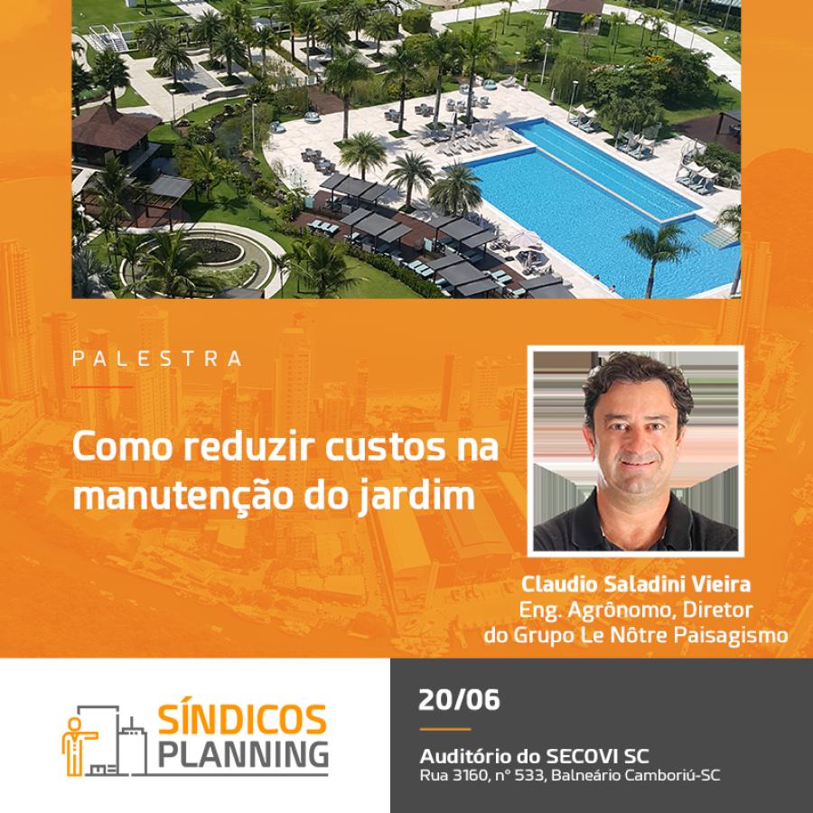 Workshop Sindicos Planning - palestra técnica sobre Manutenção de jardins