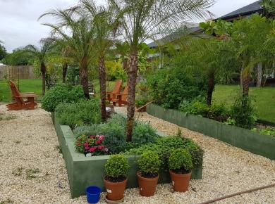 Irrigação de Horta com água da chuva