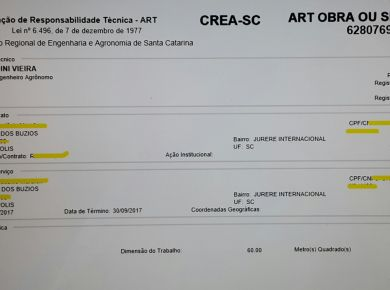 ART - Responsabilidade técnica dos serviços de paisagismo e jardinagem